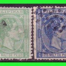 Sellos: FILIPINAS 1878 ALFONSO XII, EDIFIL Nº 41, 46, 47 Y 50 (O). Lote 187591027