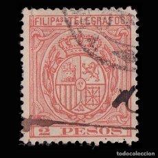 Timbres: FILIPINAS.TELÉGRAFOS.1896 ESCUDO ESPAÑA. 2P.USADO.EDIFIL 67.. Lote 191507160