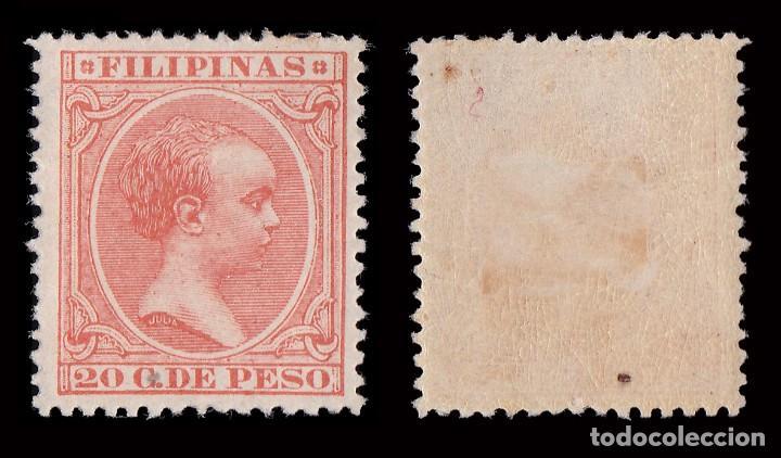 Sellos: FILIPINAS.1896-97.Alfonso XIII. 20ct.HN. Edifil 128 - Foto 2 - 192351962