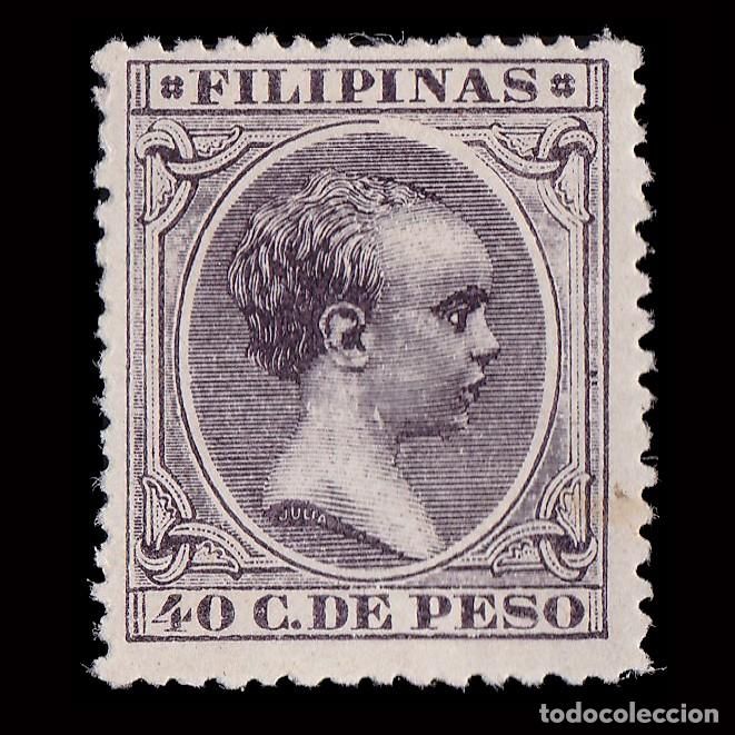 FILIPINAS.1896-97.ALFONSO XIII.40CT.MH. EDIFIL 129 (Sellos - España - Dependencias Postales - Filipinas)