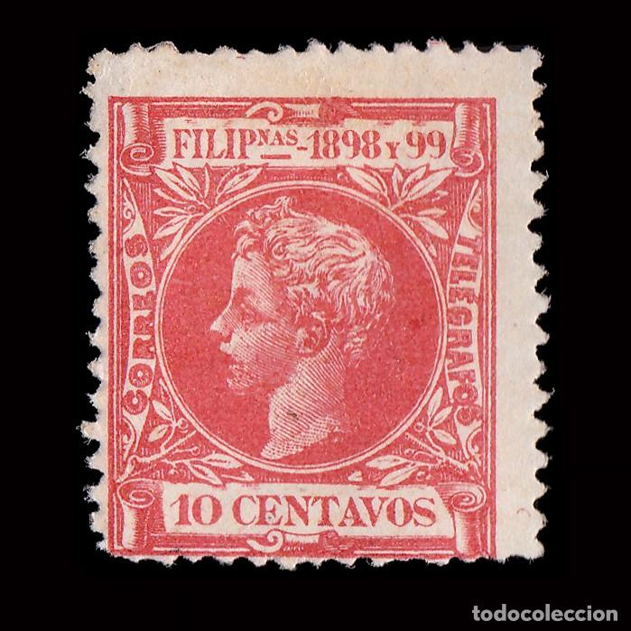 FILIPINAS.1898.ALFONSO XIII. 10CT.MH. EDIFIL 143 (Sellos - España - Dependencias Postales - Filipinas)