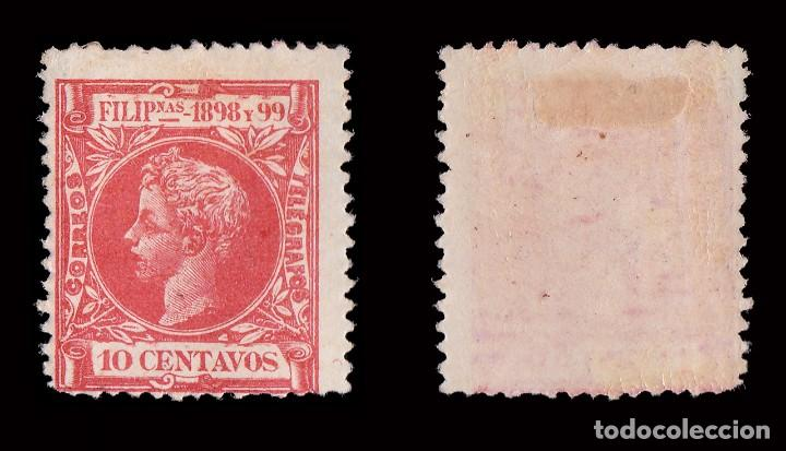 Sellos: FILIPINAS.1898.Alfonso XIII. 10ct.MH. Edifil 143 - Foto 2 - 192353227