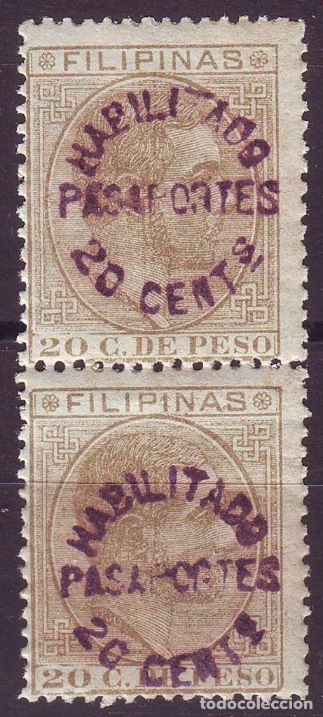 FILIPINAS. HABILITADO PASAPORTE.**MNH. SIN CHARNELA. SOBRECARGA VIOLETA (Sellos - España - Dependencias Postales - Filipinas)