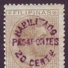Sellos: FILIPINAS. HABILITADO PASAPORTE.**MNH. SIN CHARNELA. SOBRECARGA VIOLETA. Lote 193056163