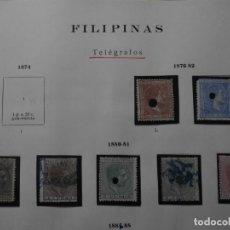 Sellos: ESPAÑA - COLONIAS - FILIPINAS - TELEGRAFOS 1876 - 1882 Y 1880 - 1881 -.. Lote 193621212