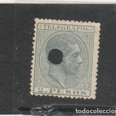Sellos: FILIPINAS 1880 - EDIFIL NRO. 6 TELEGRAFOS - ALFONSO XII - 2 PESO VERDE - SIN GOMA. Lote 194080332
