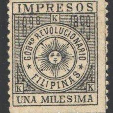 Sellos: FILIPINAS, CORREO INSURRECTO 1898-1899 EDIFIL Nº 1 (*). Lote 206834550