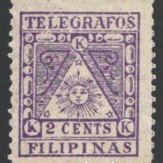 Sellos: FILIPINAS, CORREO INSURRECTO, TELÉGRAFOS 1898-1899 EDIFIL Nº 2 (*). Lote 206834700