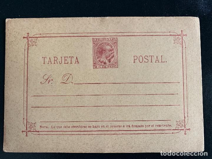 ESPAÑA-FILIPINAS. ENTERO POSTAL 8 (Sellos - España - Dependencias Postales - Filipinas)