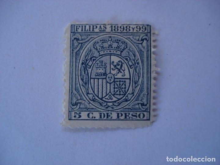 FILIPINAS FISCAL 5 C. DE PESO 1898 Y 99 (Sellos - España - Dependencias Postales - Filipinas)