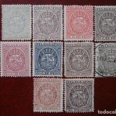 Sellos: ESPAÑA - COLONIAS - FILIPINAS - 1890 - TELEGRAFOS EDIFIL-25-26-27-28-29-30-31-32-33- Y -36 NUEVOS.. Lote 210576202