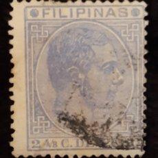 Sellos: SELLOS DE FILIPINAS DE ALFONSO XII 2 4/8 C. DE PESO . SIGLO XIX.. Lote 220718647