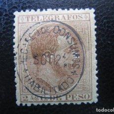 Sellos: -FILIPINAS, 1886, ALFONSO XII, SELLO DE TELEGRAFOS EDIFIL 11, HABILITADO RECARGO DE CONSUMO. Lote 221107326