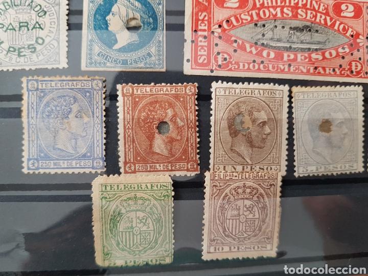 Sellos: Lote de sellos filipinas telegrafos customs aduana - Foto 2 - 225258050