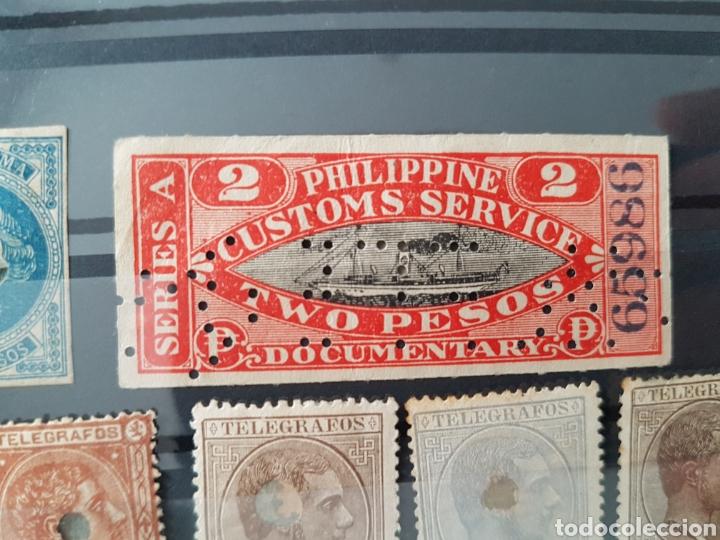 Sellos: Lote de sellos filipinas telegrafos customs aduana - Foto 3 - 225258050