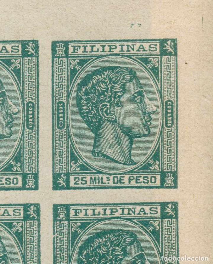 Sellos: Filipinas 1878. Alfonso XII (*)25mils verde. Falsos Filatélicos SEGUÍ - Foto 2 - 226432795