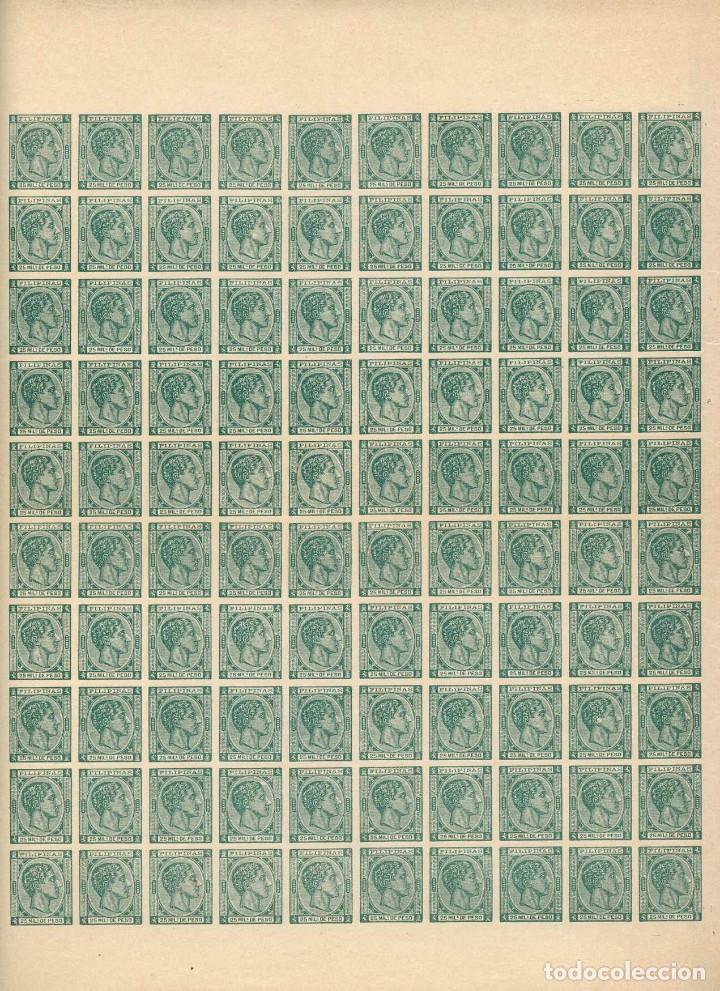 FILIPINAS 1878. ALFONSO XII (*)25MILS VERDE. FALSOS FILATÉLICOS SEGUÍ (Sellos - España - Dependencias Postales - Filipinas)