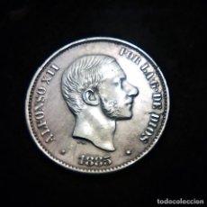 Sellos: ALFONSO XII 50 CENTAVOS 1885 FILIPINAS MANILA PLATA S/C-. Lote 229090320