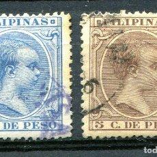 Sellos: EDIFIL 123 Y 124 DE FILIPINAS ESPAÑOLA. AÑO 1896.USADOS. Lote 243455325