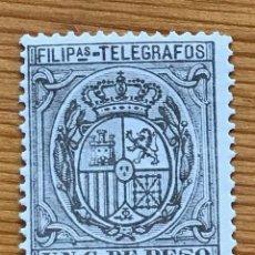 Francobolli: FILIPINAS, 1896, TELEGRAFOS, CORONA REAL, EDIFIL 59, NUEVOS. Lote 249040260