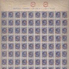 Timbres: EDIFIL Nº 66 AX FILIPINAS HOJA DE 100 SELLOS. SOBRECARGA TIPO VII CON GOMA. Lote 252191130