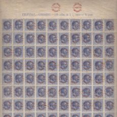 Francobolli: EDIFIL Nº 66 AX FILIPINAS HOJA DE 100 SELLOS. SOBRECARGA TIPO VII CON GOMA. Lote 252191130