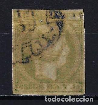 1854 FILIPINAS EDIFIL 4 A - ISABEL II 2 REALES VERDE AMARILLENTO - USADO (Sellos - España - Dependencias Postales - Filipinas)
