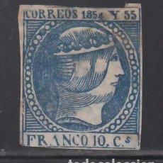 Sellos: FILIPINAS, 1854 EDIFIL Nº 4 (*), 1 R. AZUL OSCURO. Lote 262044130