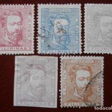 Sellos: ESPAÑA - PRIMER CENTENARIO - COLONIAS - FILIPINAS 1872 - AMADEO L DE SABOYA - EDIFIL 25/29.. Lote 263302375