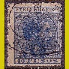 Sellos: FILIPINAS TELÉGRAFOS 1886 ALFONSO XII, EDIFIL Nº 23 (O). Lote 277185798