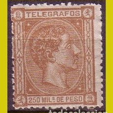 Sellos: FILIPINAS TELÉGRAFOS 1876 ALFONSO XII, EDIFIL Nº 2 * *. Lote 277185973