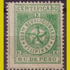 Sellos: FILIPINAS 1898 CORREO INSURRECTO, EDIFIL Nº 3 * *. Lote 277252308