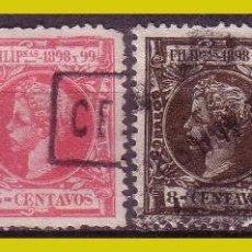 Sellos: FILIPINAS 1898 ALFONSO XIII, EDIFIL Nº 137, 140, 142 Y 143 (O). Lote 277255303