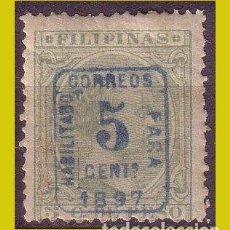 Sellos: FILIPINAS 1896 ALFONSO XIII, SOBRECARGADOS, EDIFIL Nº 130B *. Lote 277255483