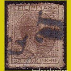 Sellos: FILIPINAS 1880 ALFONSO XII, EDIFIL Nº 66 (O). Lote 277427693