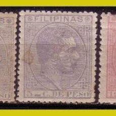 Sellos: FILIPINAS 1880 ALFONSO XII, EDIFIL Nº 57, 58, 60, 64 Y 65 *. Lote 277428158