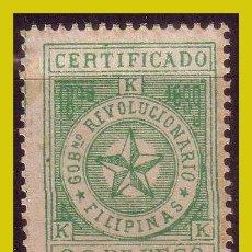 Francobolli: FILIPINAS, CORREO INSURRECTO 1898, EDIFIL Nº 3 * * VARIEDAD. Lote 288352498