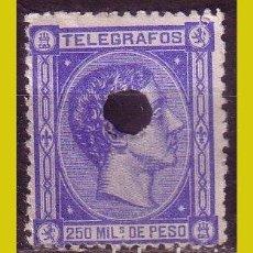 Sellos: FILIPINAS, TELÉGRAFOS 1876, EDIFIL Nº 3 (O). Lote 288352638