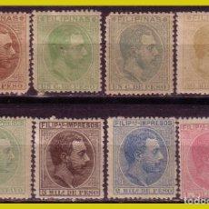 Sellos: FILIPINAS, 1886, EDIFIL Nº 67 A 74 * * / *. Lote 288352818
