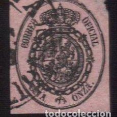 Sellos: FILIPINAS 1855 SERVICIO OFICIAL 1.ONZA FECHADOR BAEZA TIPO II MANILA SEGURAMENTE PÓSTUMO. Lote 288984593