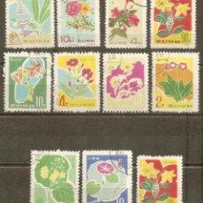 Sellos: COREA DEL NORTE 1965-66 CONJUNTO FLORES. Lote 39539785