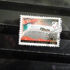 Francobolli: COREA NORTE. 1826 DIARIO LA UNITA DE ITALIA. 1986. SELLO USADO Y NUMERACIÓN YVERT. EL MATASELLO PUED. Lote 42413882