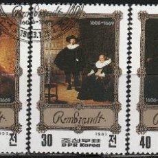 Sellos: COREA DEL NORTE. 1983. SERIE . REMBRANT. *.MH. Lote 48470457