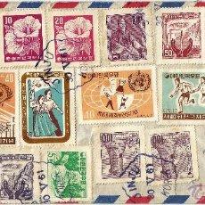 Sellos: 1961 CORREO AEREO COREA DEL SUR HISTORIA POSTAL COREA- COLOMBIA 30.V.61. Lote 51884832