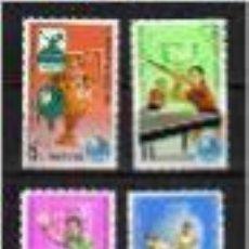 Sellos: TENIS DE MESA. COREA DEL NORTE. AÑO 1979. Lote 72726631