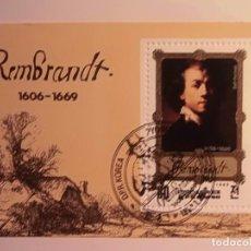 Sellos: COREA - REMBRANDT - 1606-1669 - H.B. 60 ANIVERSARIO DE SU MUERTE - PINTURA. Lote 73308111