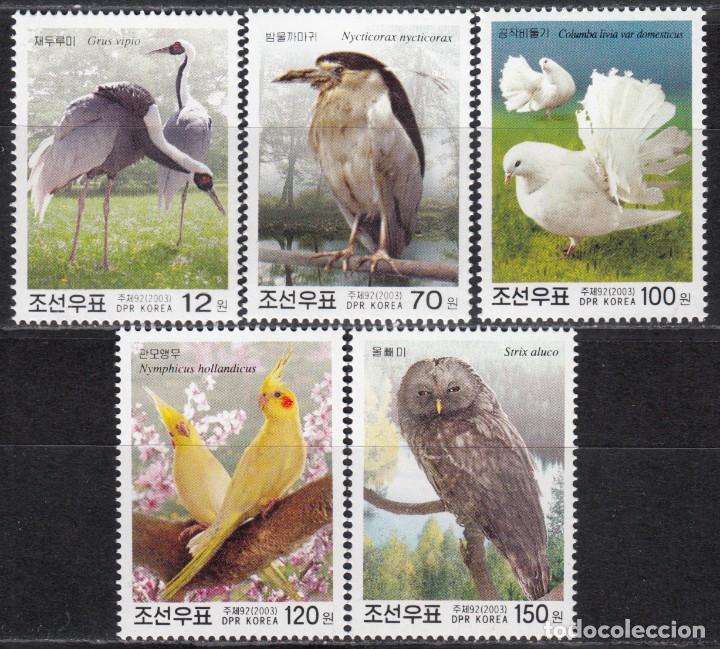 COREA DEL NORTE , 2003 YVERT Nº 3261 / 3265 , TEMA AVES (Sellos - Extranjero - Asia - Corea)