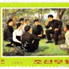 Sellos: 1969 - COREA DEL NORTE - 57º ANIVERSARIO NACIMIENTO DE KIM IL SUNG - MICHEL 900. Lote 107995843