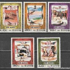 Sellos: COREA DEL NORTE .1 980 PIONEROS DEL AIRE. SERIE. *.MH(18-48). Lote 111678123