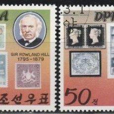 Sellos: COREA DEL NORTE . 1980. 100º ANIV. MUERTE SIR ROWLAND HILL. SERIE. *.MH.(18-51). Lote 111682639
